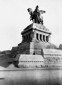 Koblenz, Deutsches Eck, Kaiser-Wilhelm-Denkmal, jetzt Denkmal der deutschen Einheit