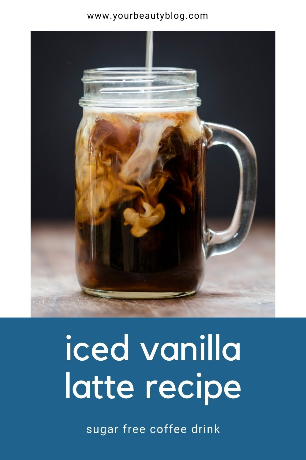 Skinny Iced Vanilla Latte Coffee Recipe in 2020 Dunkin