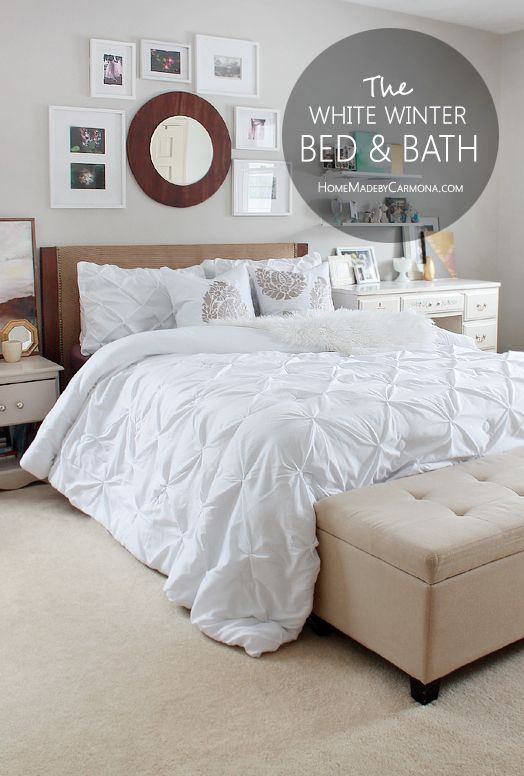 Update Any Bedroom With The Stunning BHG Pintuck Comforter And Get Matching Shower Curtain For A Bed Bath Refresh BHGlivebetter