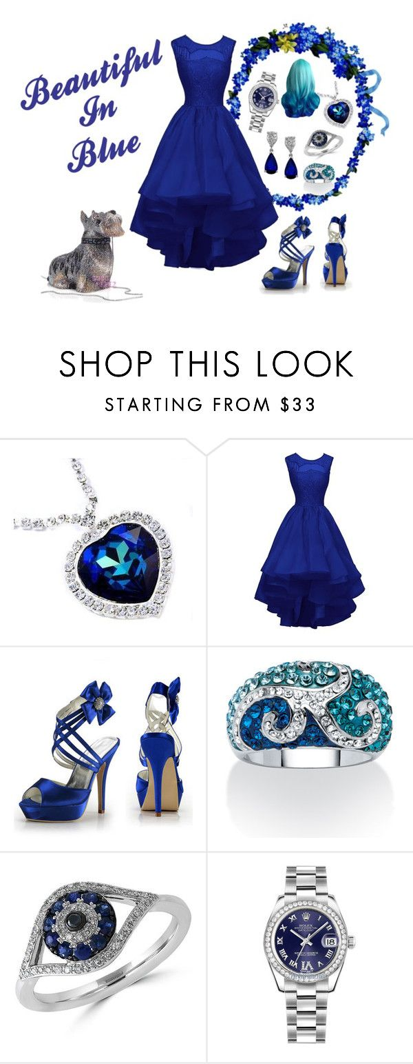 """Beautiful In Blue"" by onetrakmnd ❤ liked on Polyvore featuring Palm Beach Jewelry, Effy Jewelry, Rolex, women's clothing, women's fashion, women, female, woman, misses and juniors"