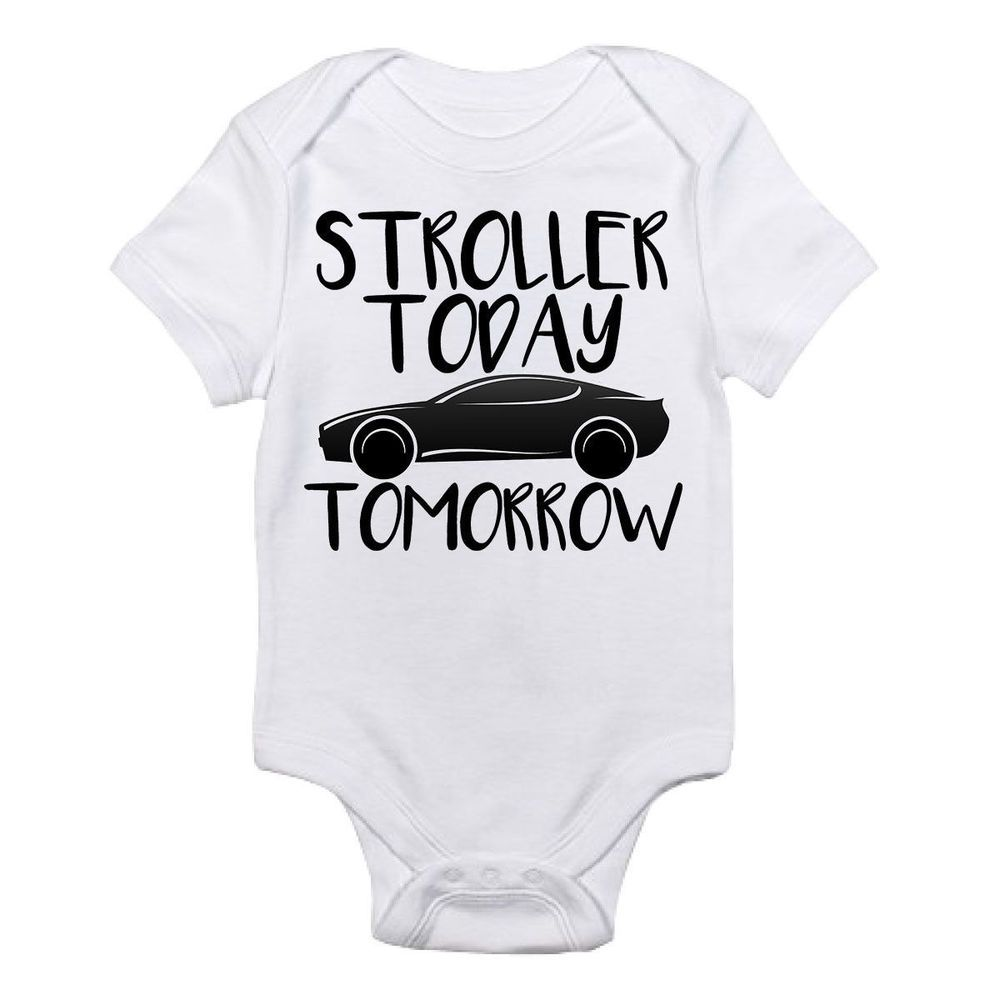 Details about Stroller Today Car Tomorrow Gerber Onesie Funny Baby Shirt Bodysuit Shower #babyshirts