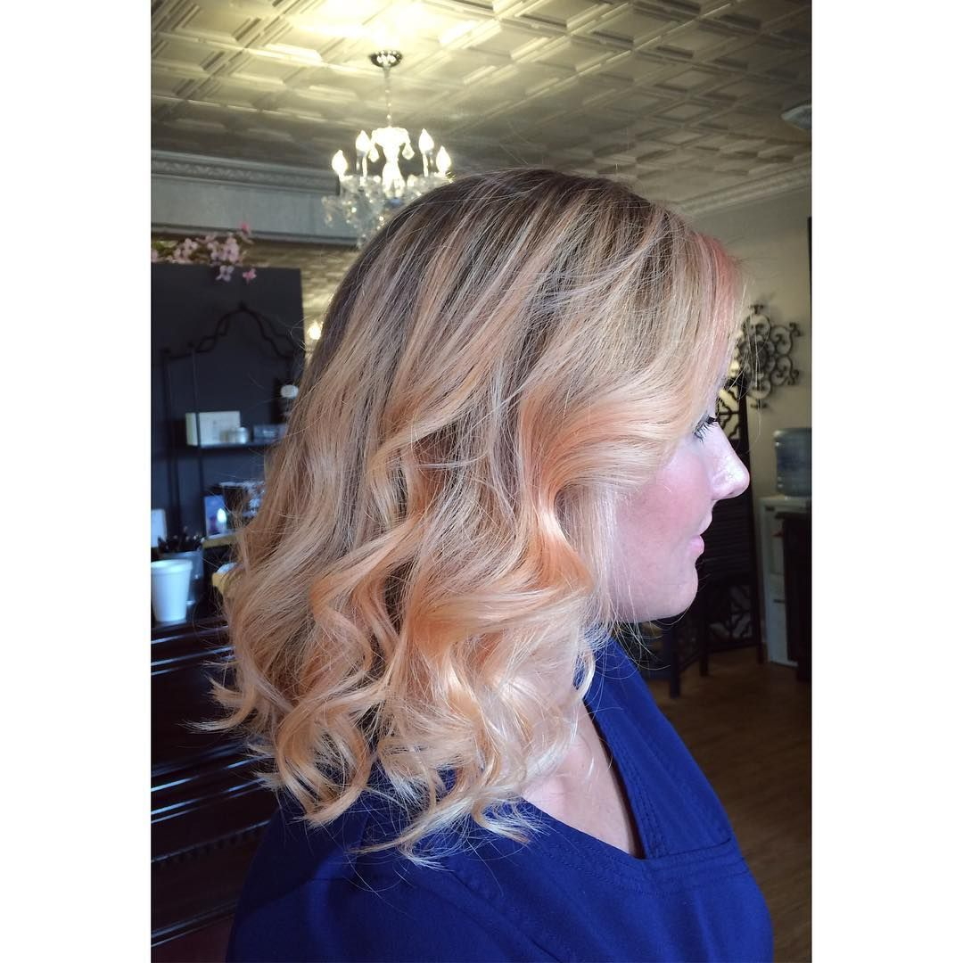 Rose ombre lob hair color ideas pinterest rose gold hair gold