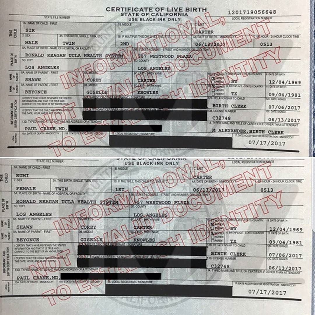 Beyonce and jay z twins birth certificate rumicater beyonce and jay z twins birth certificate rumicater sircarter aiddatafo Image collections