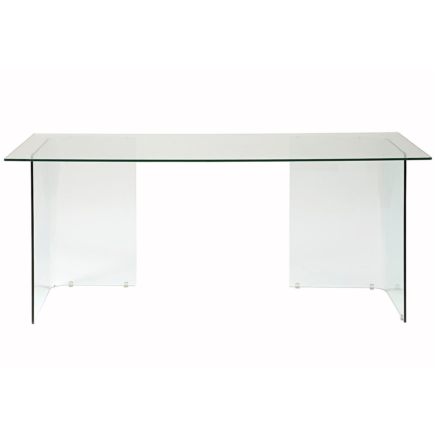 Buy John Lewis Staten 140 Clear Glass Top Desk with Glass Trestles from our fice Desks range at John Lewis