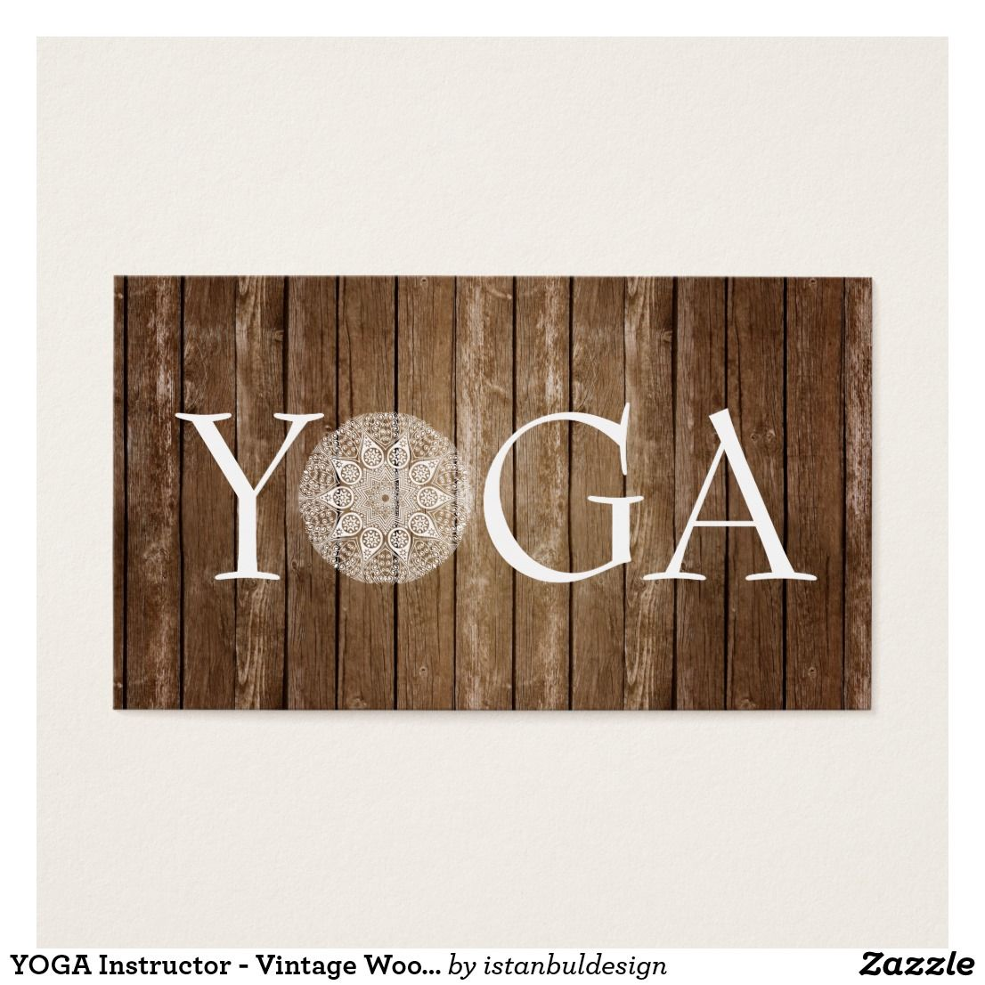 Yoga instructor vintage wood business card custom yoga yoga instructor vintage wood business card reheart Image collections