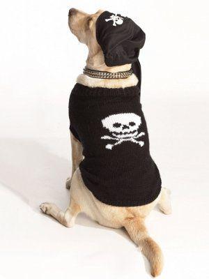 Pirate Dog Sweater   Stricken und häkeln, Hunde und Handarbeiten