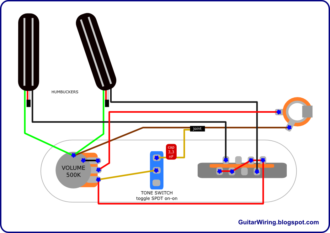 the guitar wiring blog diagrams and tips hot telecaster project rh pinterest com 1600 CC Volkswagen Sand Rail Wiring-Diagram Seymour Duncan Hot Rails Install