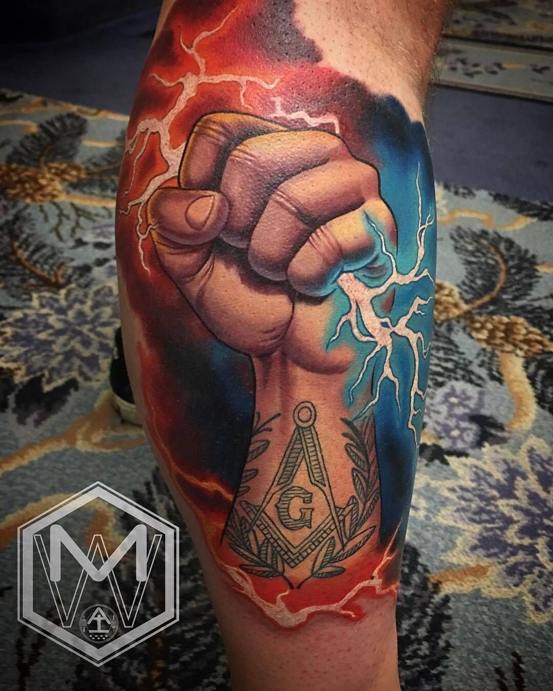 Fistful of lightning by mikewoodsart at advent tattoo in