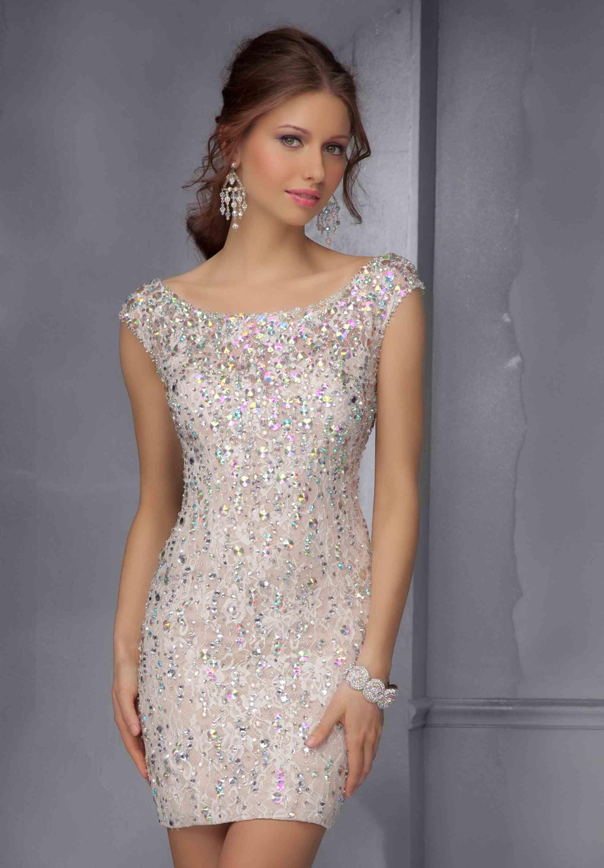 Morilee Sticks Stones Prom Dresses Peaches Boutique Beaded Dress Short Dresses Tight Dresses [ 2827 x 1966 Pixel ]