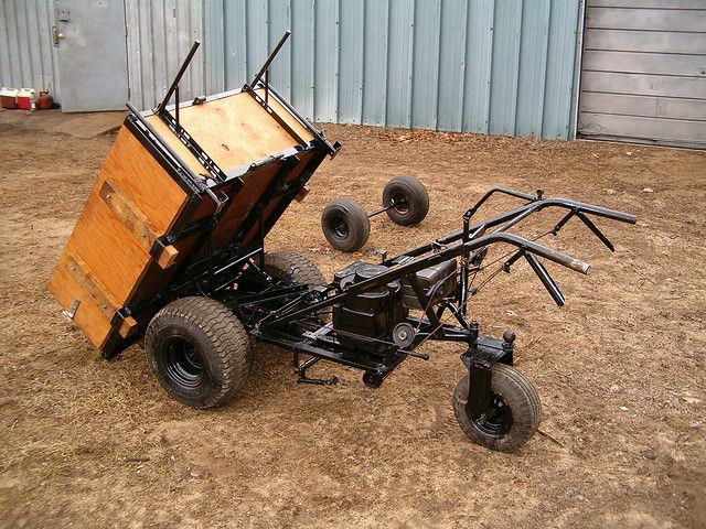 homemade wheelbarrow