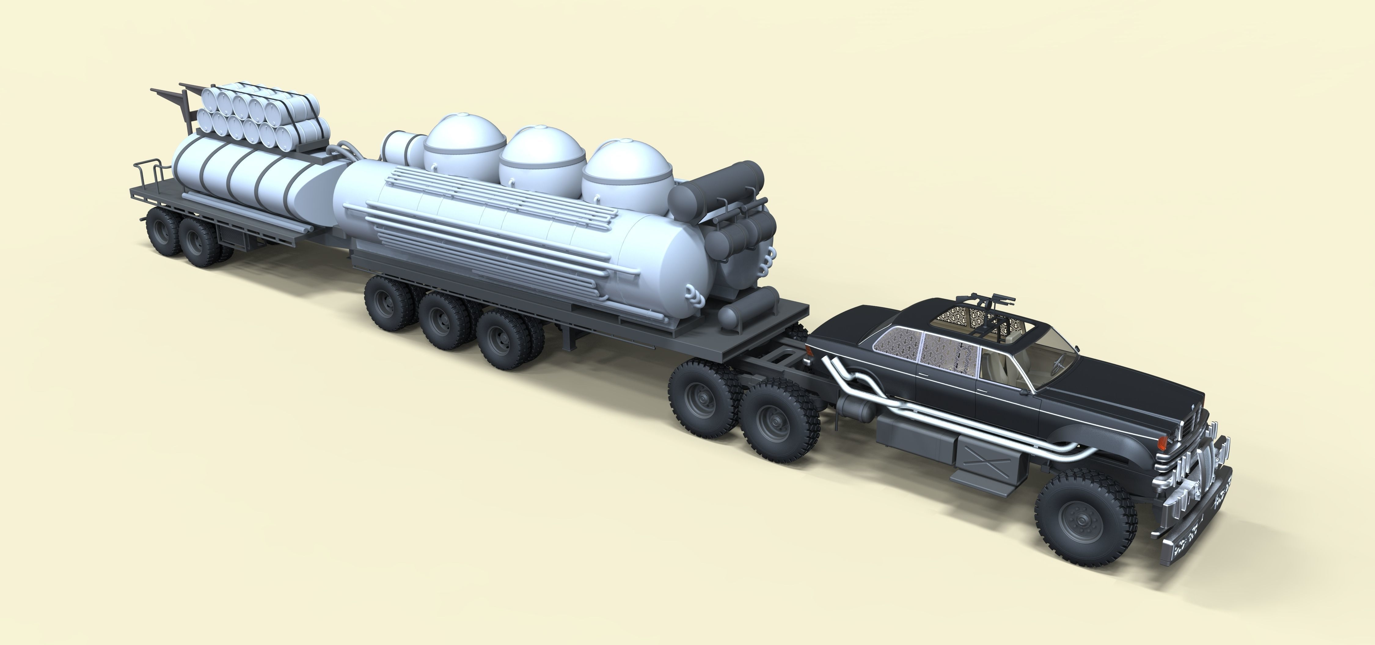 People Eater Fuel Truck From Movie Mad Max Fury Road 3d Model Mad Max Fury Road Fuel Truck Mad Max Fury