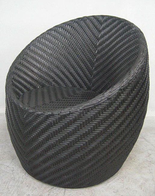Great Monaco 32 Inch Steel And Wicker Outdoor Barrel Chair