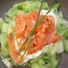 Cucumber Tagliatelle with Smoked Salmon : ketorecipes