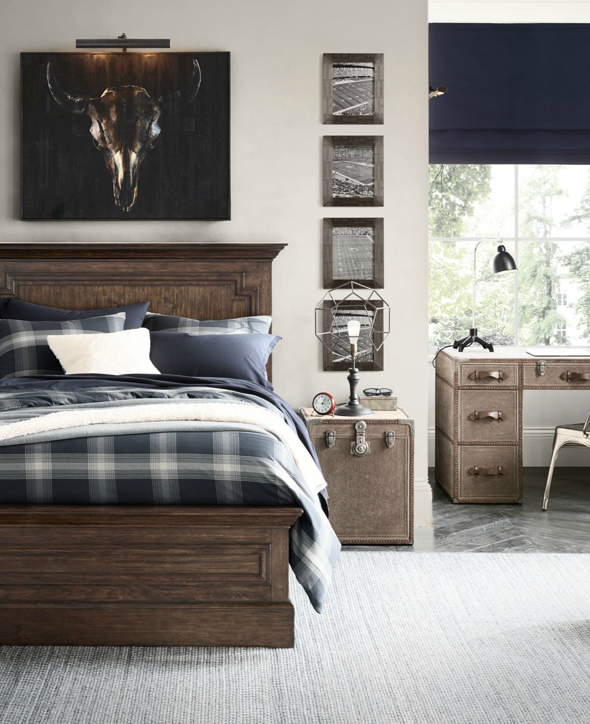 Classic Décor And Sported Themed Accents Make For A Timeless Boyu0027s Bedroom