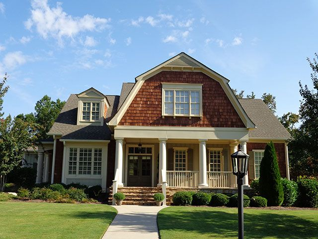 love the cedar shakes and front porch! | pretty homes | pinterest