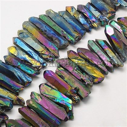 """16/""""L Pink Quartz Crystal Chips Gemstone Jewelry Beads 1 Strands A"""