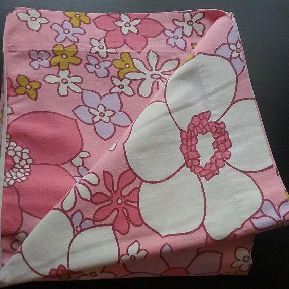 Best Vintage Flat Sheet Single Bed Pink Flower Power 100 400 x 300