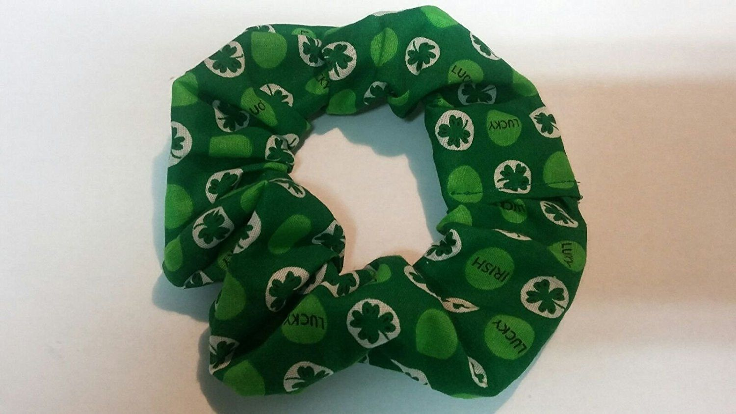 Green Clover Lucky Irish St. Patrick's Day Design Ponytail Holder Wrap Hair Scrunchie -- Read more  at the image link.