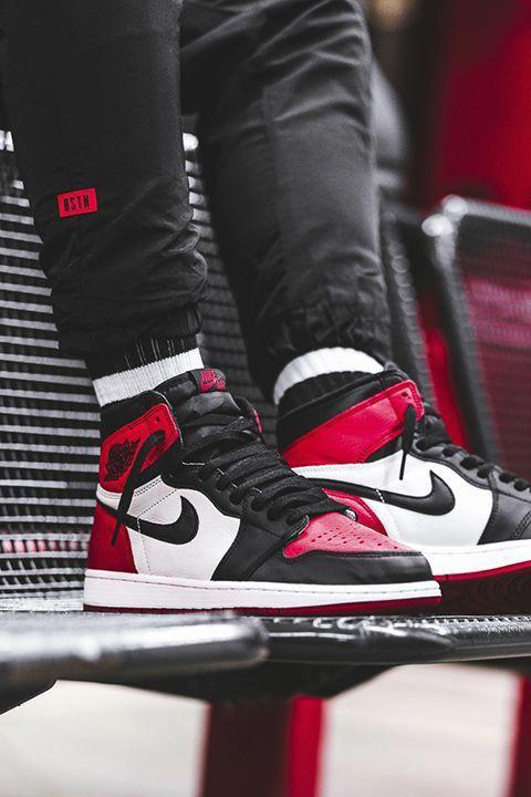 Nike Air Jordan 1 Bred Toe Restock Price More Info Sneakers Shoes Sneakers Jordans Sneakers Men Fashion Sneakers