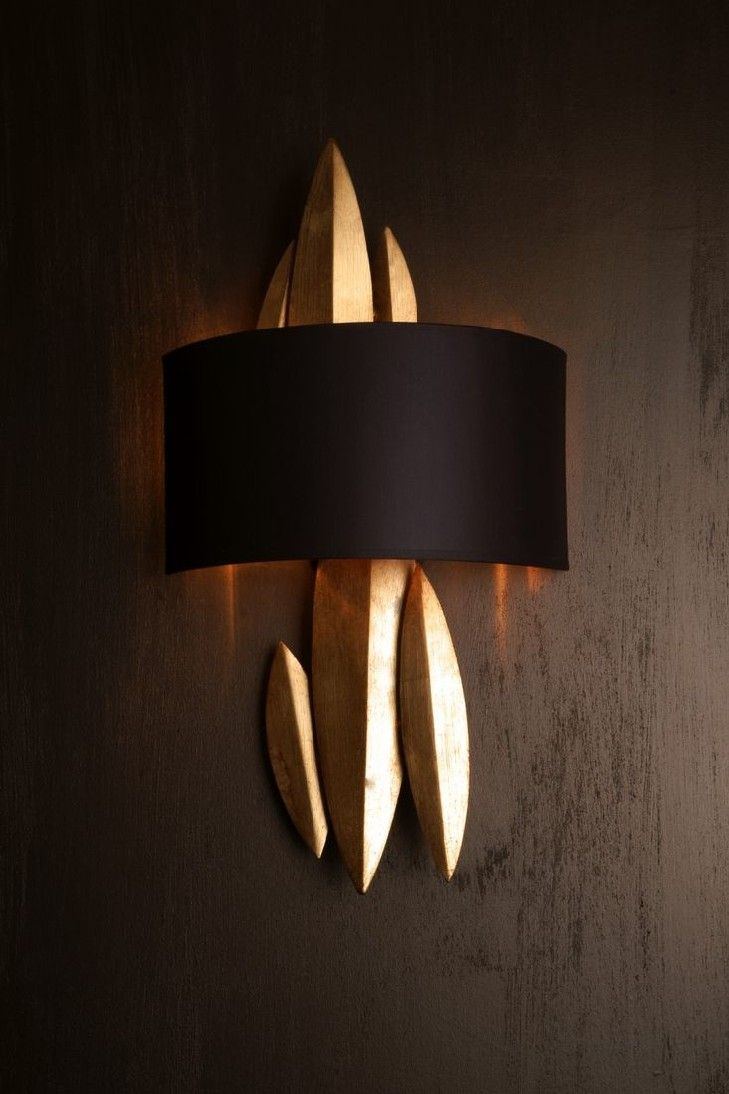 12 Golden Sconces To Achieve An Elegant Home Design | To use golden ...