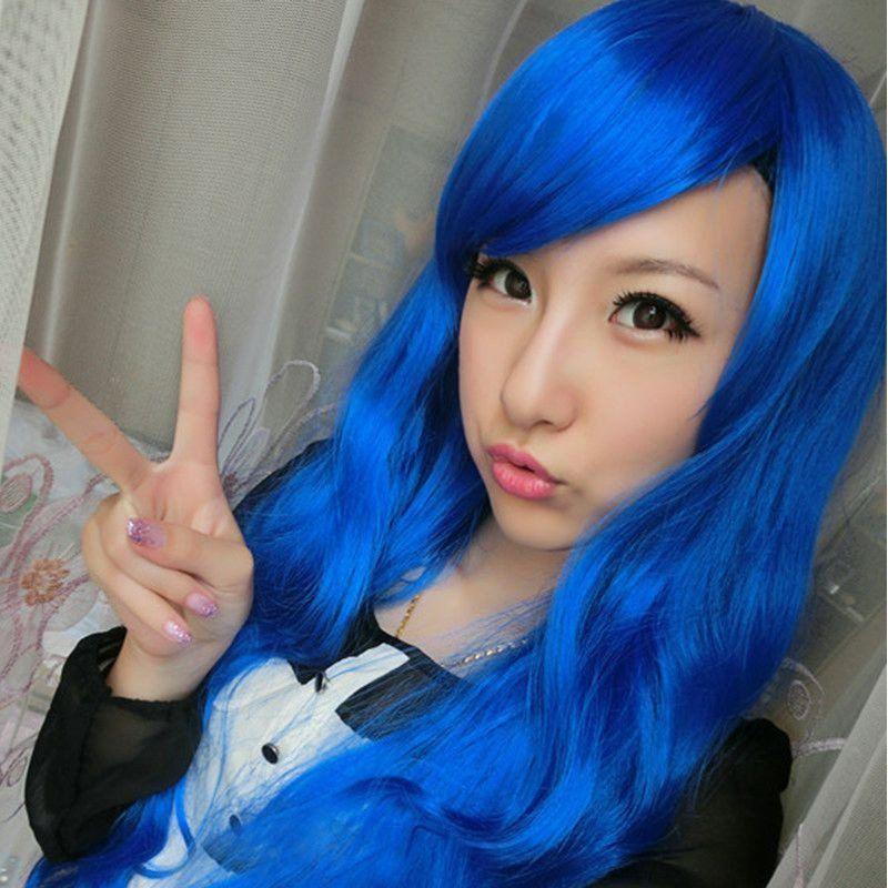 50 cm length harajuku anime cosplay wigs 20inch long curly