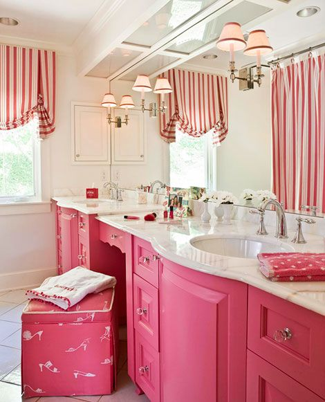Cute girls bathroom idea traditional home designer kelley for Bathroom photos of ladies
