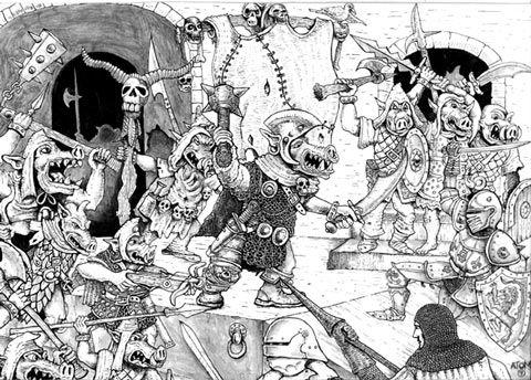 Orc (Pig-faced) | Scifi fantasy art, Pig face, Fantasy art