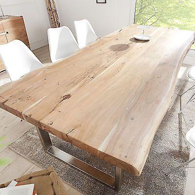 Tisch Massiver Baumstamm MAMMUT Akazie Massivholz Esstisch Holztisch - esstische aus massivholz ideen