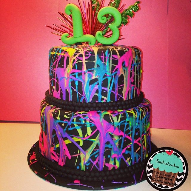 Paint Splattered Cake