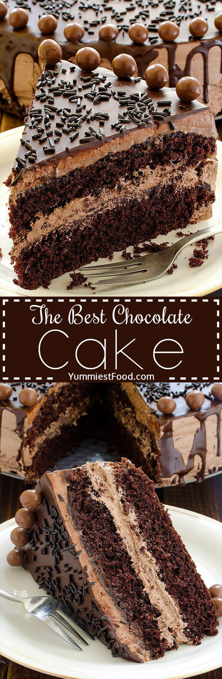 The BEST Chocolate Cake The BEST Chocolate Cake - perfect cake for chocolate lovers! Soft, tasty and very creamy! Great Combination of Chocolate and Coffee.