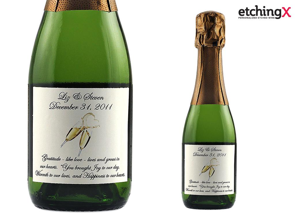 Beautiful Personalized Mini Champagne Bottles Wedding Favors Photos ...