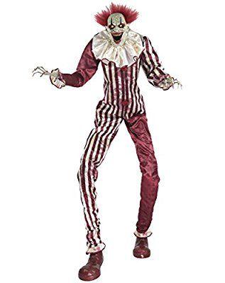 spirit halloween 65 ft creepy towering clown animatronics decorations