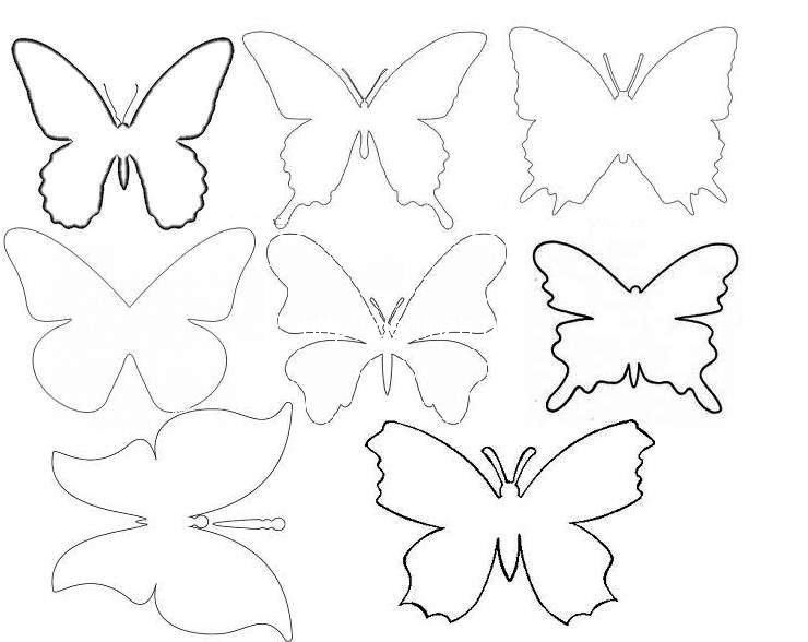 Шаблоны бабочками как сделать 11