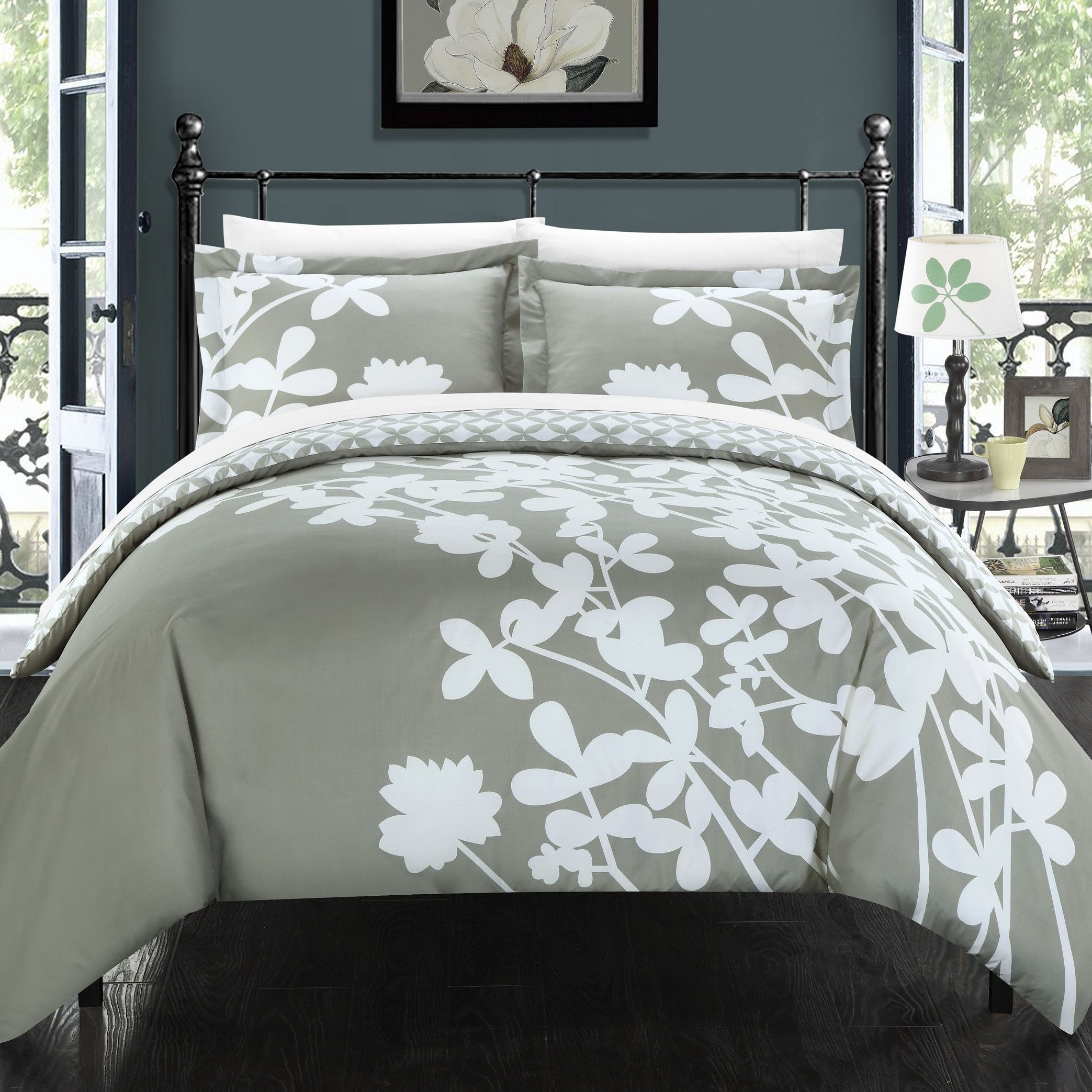 Chic Home Calla Lily Reversible Duvet Cover Set & Reviews
