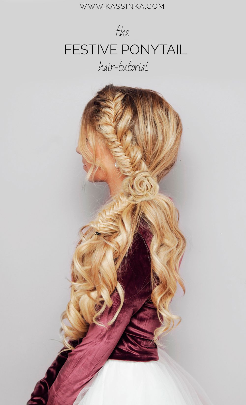 Kassinka festive ponytail hair tutorial hair pinterest