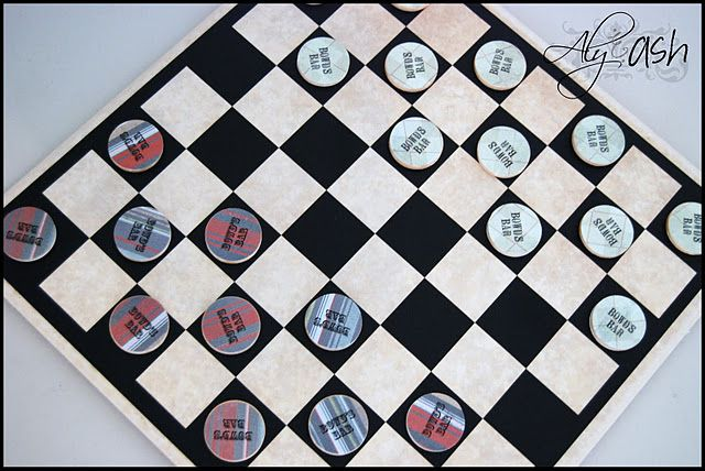 Fathers Day, Dad birthday..little kids gift...just change the playing pieces to make a personalized board.  Would be cute with bottle caps for game pieces as well