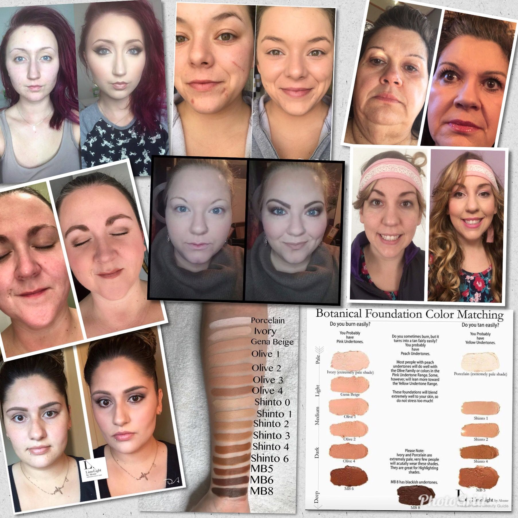 Perfect match color match foundation Limelife Foundation