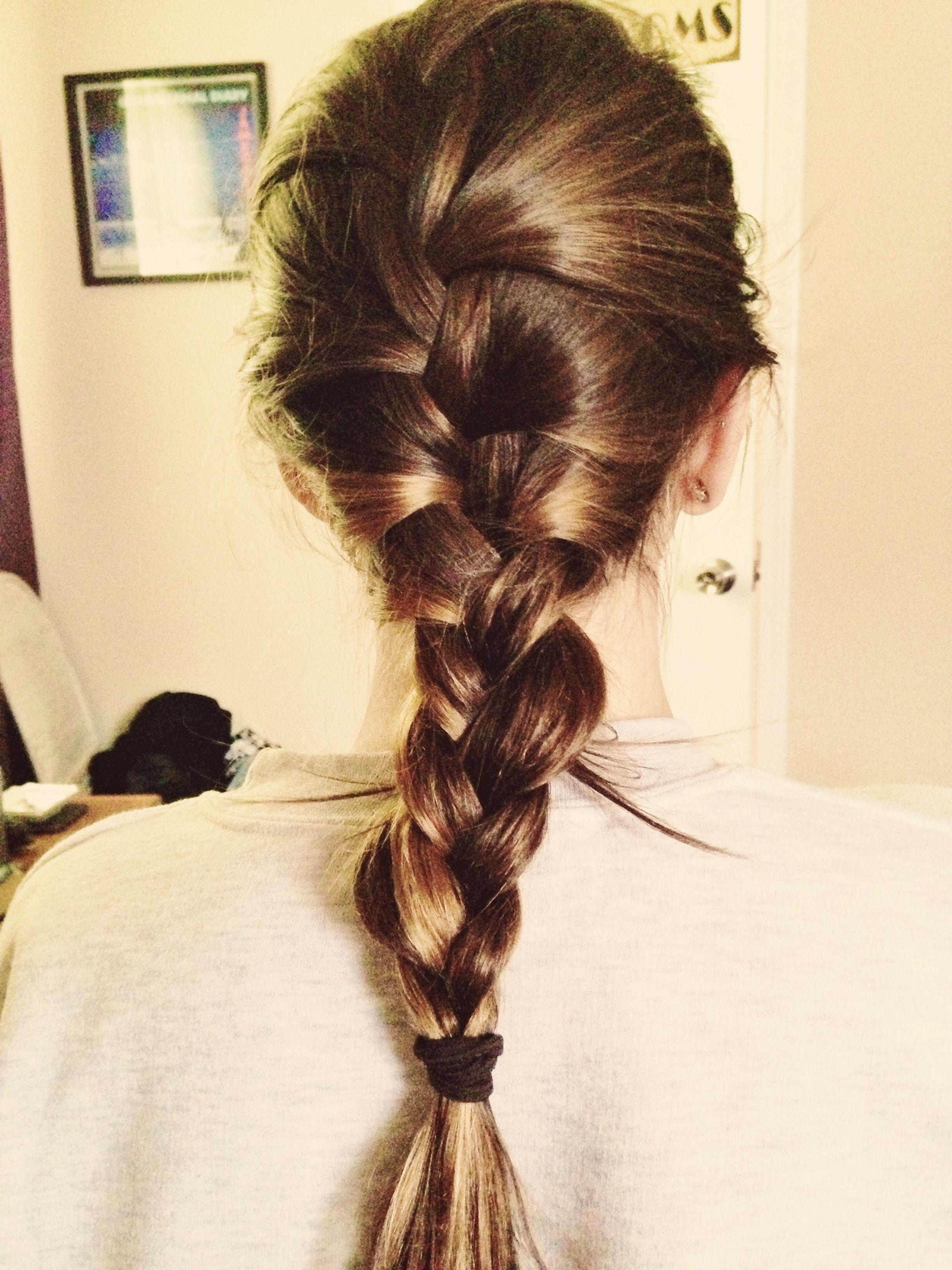 French braid...LOVE.