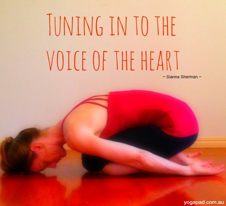 Balasana Child S Pose Tuning In To The Voice Of The Heart Yogapad Com Au Ioga
