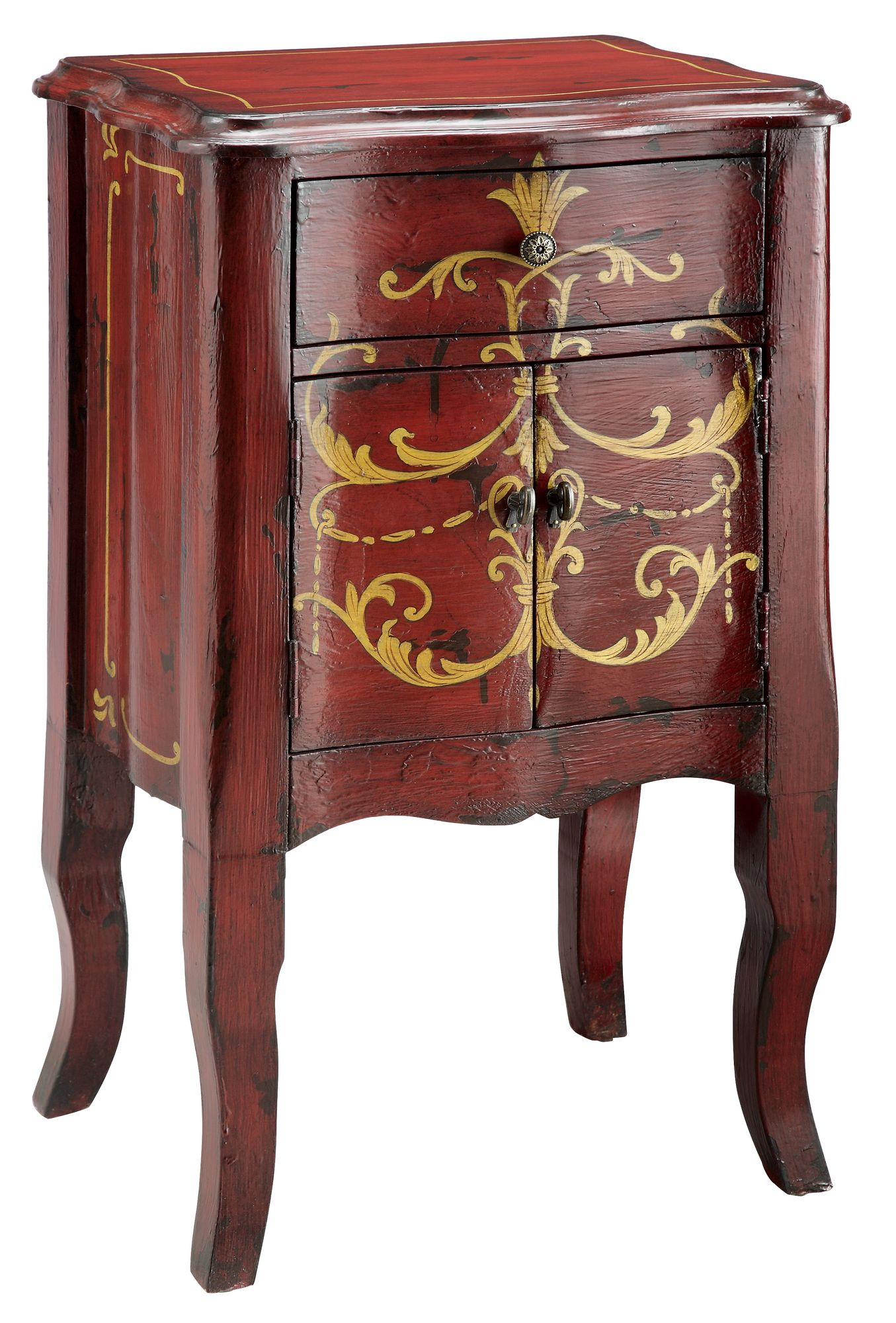 Stein World Painted Treasures Pee Chairside Chest French Cottage Furniture Furnitures