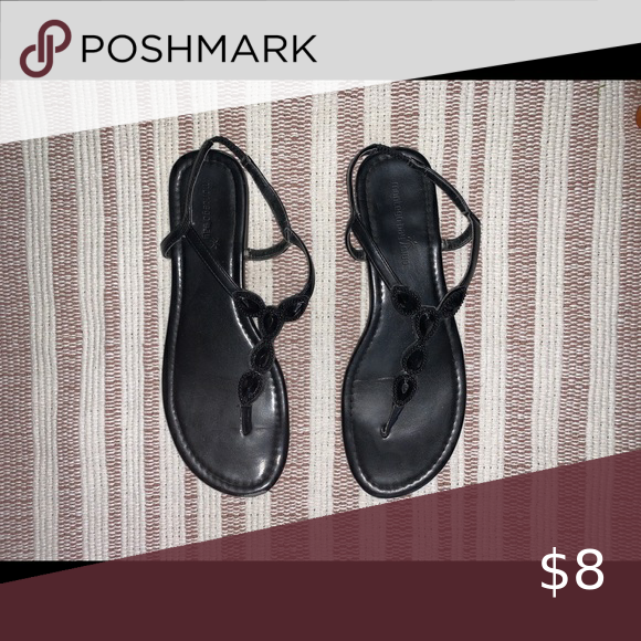 Like new black sandals
