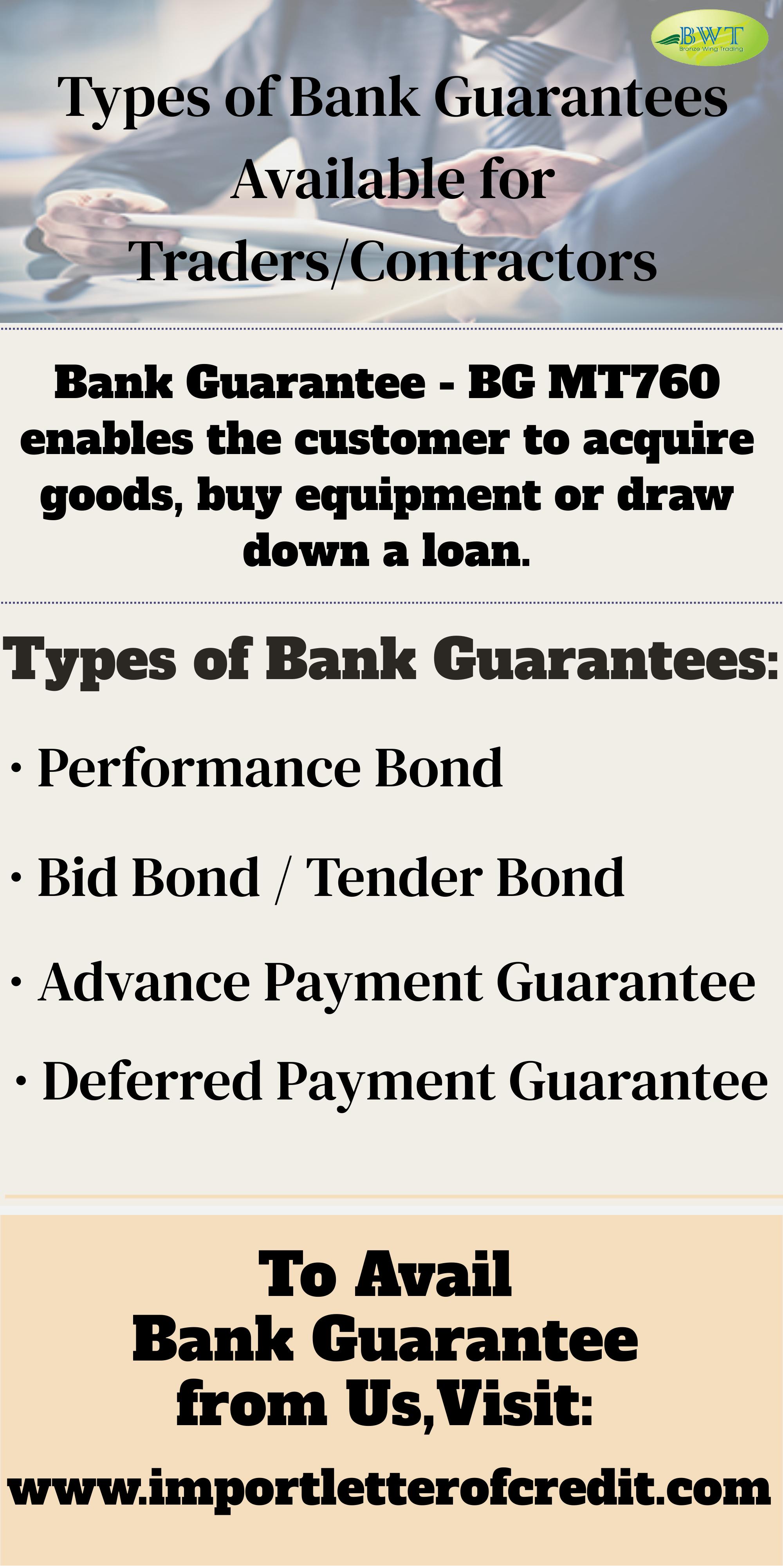 Infographics Types Of Bank Guarantees Bg Providers Trade Finance Infographic International Bank