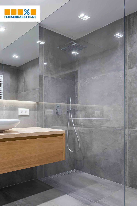 Beton Ist In Der Dusche Beliebt Die Großformatigen