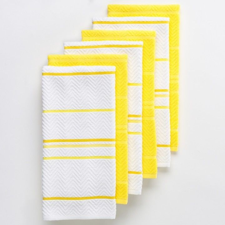 The Big One Chevron Kitchen Towel 6 Pack Chevron Kitchen