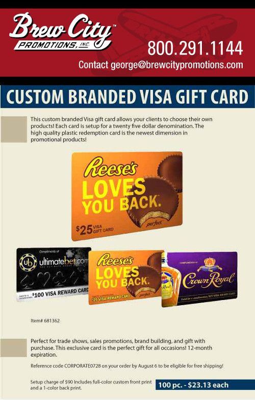 featured product custom branded visa gift card - Custom Visa Gift Cards