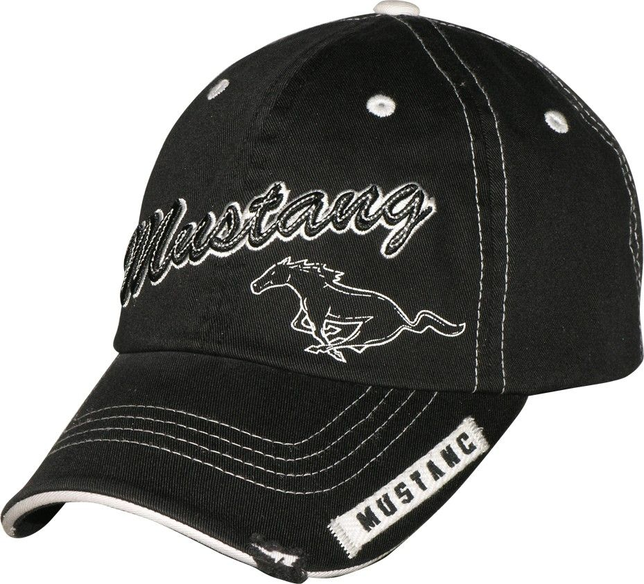 2af73fb7e Mustang on Black with white trim new ball cap: Mustang on a new ...