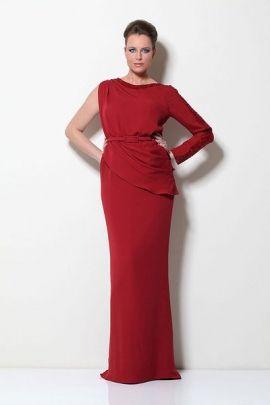 فستان من الحرير الاحمر Ready To Wear Evening Gowns Fashion