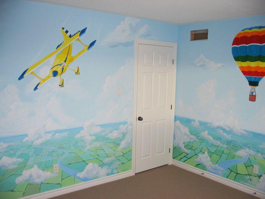 Click To Close Mural Garden Wall Art Theme