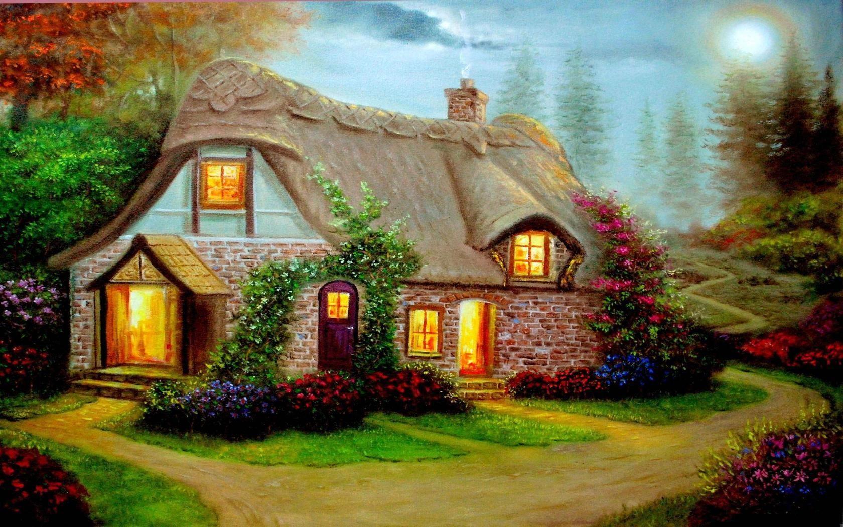 Картинка домика из сказки
