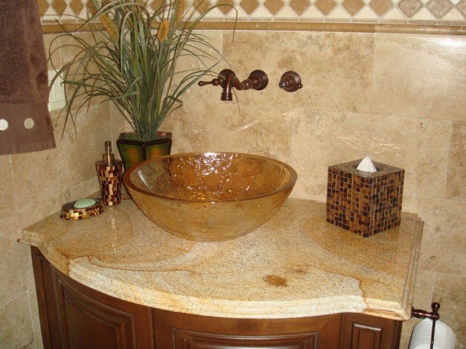 Beauteous Astounding Engaging Bathroom Sinks Granite Countertops